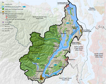 map of Hood Canal action area