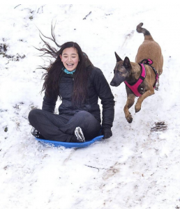 Lani Matthews, 13, is chased down the Buckley Cemetery hill by her dog, Kona, in February. A study finds a link between interactions with nature and happiness for people in the Puget Sound area. Drew Perine dperine@thenewstribune.com Read more here: http://www.thenewstribune.com/news/local/article143536044.html#storylink=cpy