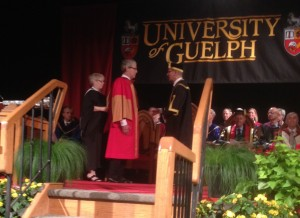 Marc Mangel receiving an honorary doctorate last month at the University of Guelph.