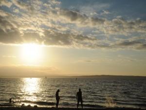 Sunset over Puget Sound near Golden Gardens. photo by Wondelane.