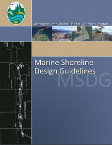 Marine Shoreline Design Guidelines report cover