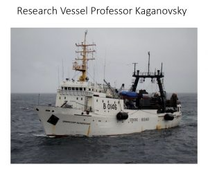 The research vessel Professor Kaganovsky. Photo uncredited.