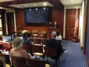 Senator Maria Cantwell addresses Puget Sound 'Day on the Hill' delegates in Washington, D.C. Photo by Christopher Dunagan