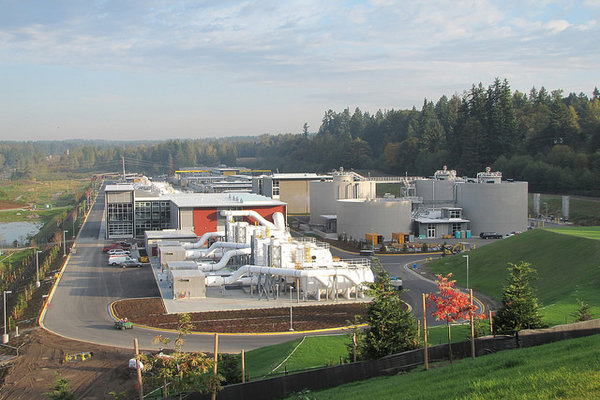The Brightwater Treatment Plant in King County. Image courtesy of King County.