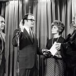 William Ruckelshaus is sworn in as the first head of the EPA in 1970. Photo courtesy of the Nixon Library.