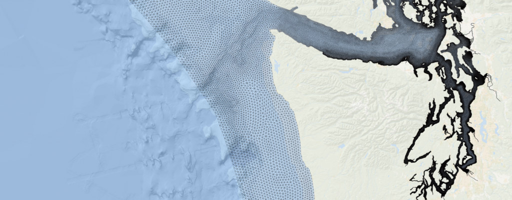 Rendering of Salish Sea and sourounding areas